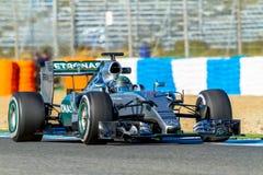 Mercedes AMG Petronas F1, Nico Rosberg, 2015 stockbilder