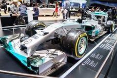 Mercedes AMG Petronas F1 W05 Hybrid, Motor Show Geneve 2015 Stock Photography