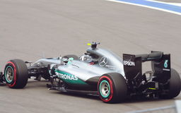 Mercedes AMG Petronas Prix grande F1 2016 Imagens de Stock Royalty Free