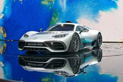 Mercedes-AMG Project One concept car. Frankfurt-September 20: world premiere of Mercedes-AMG Project One concept car  at the Frankfurt International Motor Show Stock Photo