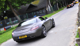 Mercedes AMG SLS chez Chelsea AutoLegends Image stock