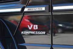 Mercedes AMG V8 KOMPRESSOR Royalty-vrije Stock Afbeeldingen