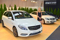 Mercedes B class at the romanian car show Royalty Free Stock Image