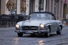 Mercedes-Benz 190 αυτοκίνητο SL oldtimer Στοκ εικόνα με δικαίωμα ελεύθερης χρήσης