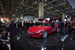 Mercedes-Benz 2011 SLS AMG em Autoshow 2010 Fotos de Stock