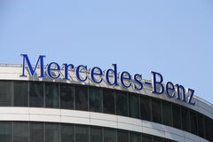 Mercedes-Benz. Logo sign on office building Royalty Free Stock Photo