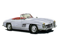 Mercedes Benz 300SL Royalty Free Stock Photo