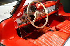 Mercedes-benz 300sl interior Stock Images