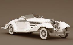 Mercedes-Benz 540k - carro do branco do casamento Foto de Stock