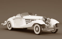 Mercedes-Benz 540k - wedding white car Stock Photo
