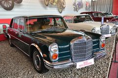 Mercedes Benz 600 1963. MOSCOW - JUNE 25: Mercedes Benz 600 1963 in Moscow Auto-retro Museum exhibition June 25, 2010 Moscow, Russia royalty free stock image