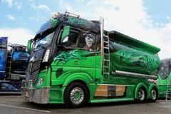 Mercedes-Benz Actros Highway Hero of Kuljetus Auvinen at Riversi Royalty Free Stock Photo
