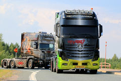 Mercedes-Benz Actros Show Truck Joker en Finlande Images stock