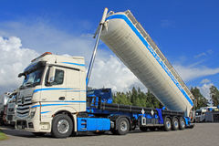 Mercedes-Benz Actros Silo Truck Stock Photo