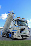 Mercedes-Benz Actros Silo Truck Royalty Free Stock Photography