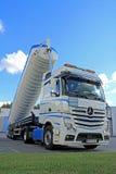 Mercedes-Benz Actros Silo Truck Royalty Free Stock Photography