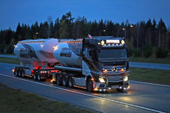 Mercedes-Benz Actros Uniq Concept of Kuljetus Auvinen Lights in Stock Images
