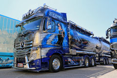 Mercedes-Benz Actros Xtar Show Truck Arkivfoto