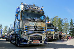 Mercedes-Benz Actros Xtar Tanker Truck in a Show Royalty Free Stock Photography