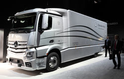 Mercedes Benz Aerodynamics Truck Stock Photos