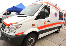 Mercedes benz ambulance Royalty Free Stock Photos