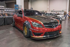 Mercedes-Benz AMG C 63 on display Royalty Free Stock Photography