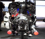 Mercedes Benz AMG car engine back view Stock Photography