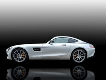 MERCEDES-BENZ AMG GT 2016 isolated auto black white background Germany royalty free stock image