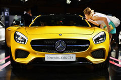 The Mercedes Benz AMG GT S royalty free stock image