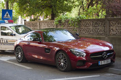 Mercedes-Benz AMG GT S on the street in Bucharest Stock Photos