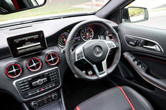 Mercedes-Benz A 45 AMG Interior Royalty Free Stock Photo