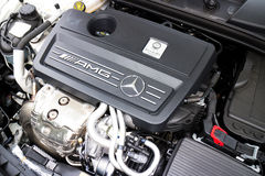 Mercedes-Benz A 45 AMG 4MATIC Engine Royalty Free Stock Photos