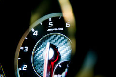 Mercedes-Benz AMG at the Singapore Motorshow 2015. Rev counter of a Mercedes-Benz CLA45 AMG super car at the Singapore Motorshow 2015 on 15 January 2015 at the Royalty Free Stock Photography