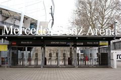 Mercedes-Benz arena Obrazy Royalty Free