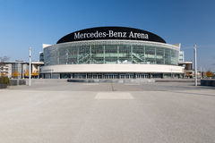 Mercedes-Benz Arena Berlin Arkivbilder