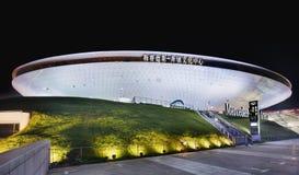 Mercedes-Benz Arena en la noche, Shangai, China Imagen de archivo libre de regalías