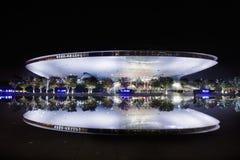 Mercedes-Benz Arena en la noche, Shangai, China Foto de archivo libre de regalías