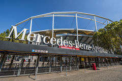 At Mercedes Benz Arena Stock Image