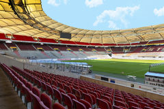 At Mercedes Benz Arena. View on Mercedes Benz arena - the official playground of FC Stuttgart. Germany royalty free stock image