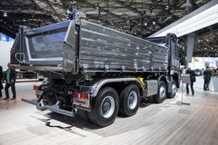 Mercedes Benz Arocs 4145 dump truck. At the 65th IAA Commercial Vehicles 2014 in Hannover, Germany Stock Image