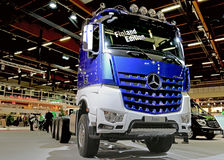 Mercedes Benz Arocs 3663 Finland Edition on Display Stock Image