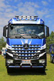 Mercedes-Benz Arocs Logging Truck Front View Royalty Free Stock Photography