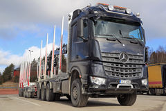 Mercedes-Benz Arocs 3263 Timber Truck Stock Image