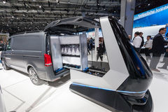 Mercedes Benz automatic loading system. Hannover, Germany - Sep 23, 2016: Mercedes Benz Vision Van automatic loading system at the IAA Commercial Vehicles 2016 Royalty Free Stock Image