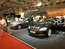 Mercedes-Benz bij de Show van de Motor van Sofia Stock Foto