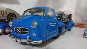 Mercedes Benz Blue Wonder transporters scale model car Royalty Free Stock Photography