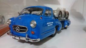Mercedes Benz Blue Wonder transporters scale model car Royalty Free Stock Images