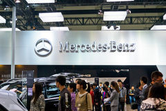 Mercedes Benz booth Stock Photos