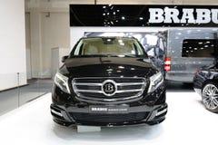 The Mercedes-Benz Brabus V-class van is on Dubai Motor Show 2017. DUBAI, UAE - NOVEMBER 18: The Mercedes-Benz Brabus V-class van is on Dubai Motor Show 2017 on Royalty Free Stock Photos
