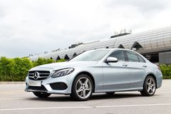 Mercedes-Benz C 250 AMG 2014 Obrazy Stock